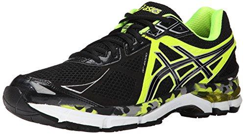 ASICS Men's Gt-2000 3 Running Shoe,Black/Onyx/Flash Yellow,7.5 M US