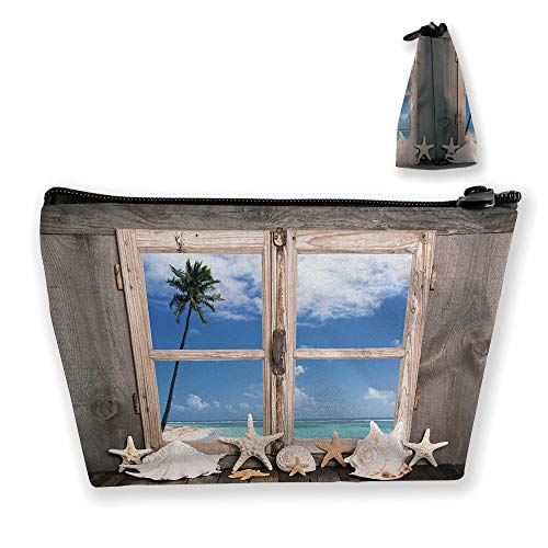 Ladies handbag Cosmetic Bag Wallet,Seashells Starfish, used for sale  Delivered anywhere in USA