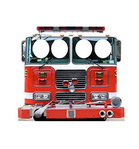 Fire Truck Stand-In - Advanced Graphics Life Size Cardboard (Cardboard Stand Ins)