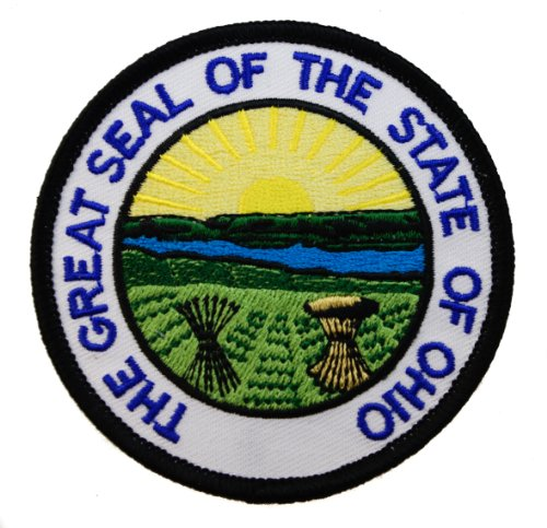 The Great Seal of the State of Ohio Iron or Sew on Embroidered Patch AKPT627