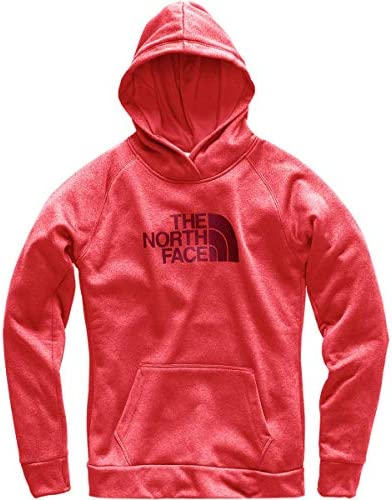 The North Face Women's Fave Half Dome Pullover - Atomic Pink Heather & Rumba Red - M