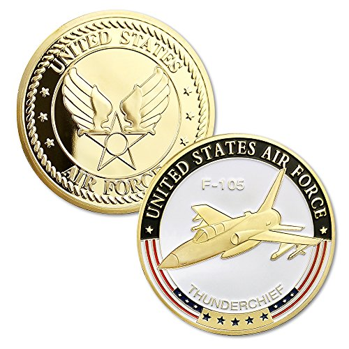 USAF Airplane Air Force Challenge Coin F-105 Thunderchief for sale  Delivered anywhere in USA