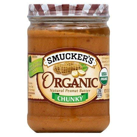 2 Jars Smucker's Organic Natural Peanut Butter-chunky (Natural Chunky) ()
