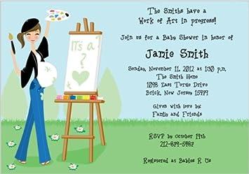 amazon com work of art baby shower invitations set of 20 baby