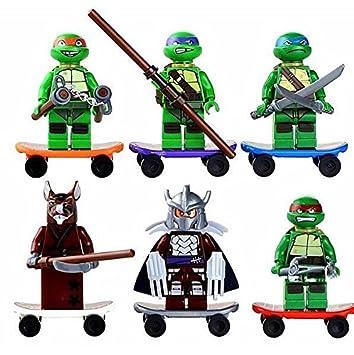 Amazon.com : 6pcs Teenage Mutant Ninja Turtles 2 Minifigures ...
