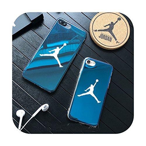 Fly Man Jordan 23 Carcasa para iPhone 6, 6 Plus, S, 7, 7 Plus, 8, 8 Plus y X, de silicona suave, brillante