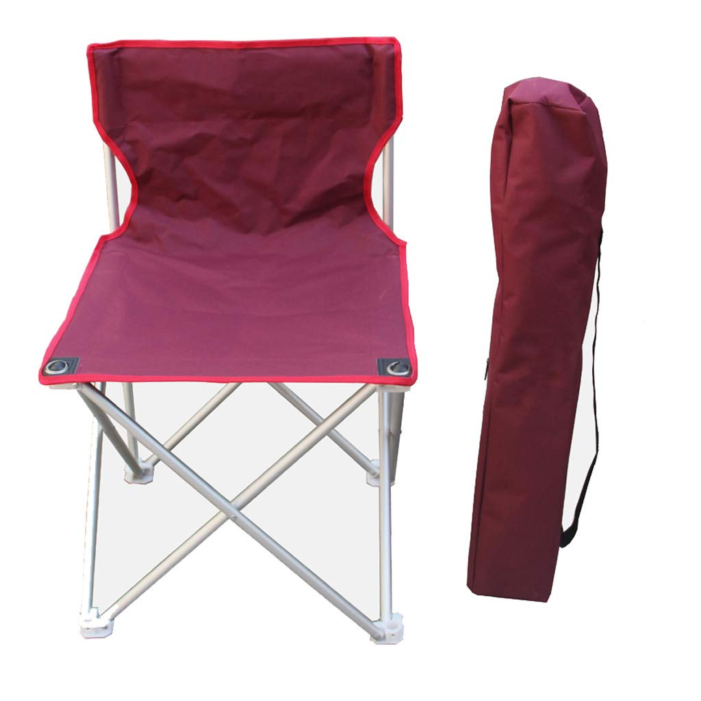 KAI LE Großer Außenklappstuhl-Aluminiumstuhl-tragbarer Strand-Stuhl-Fischen-Stuhl-Rest-Schemel