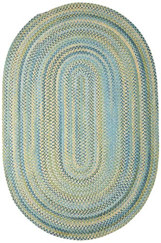 Colonial Mills Rustica Braided Rug, 3 by 5', Whipple Blue