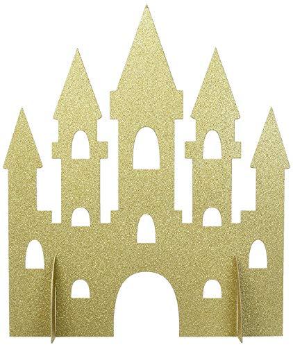 Unique Party - Decoracion de Mesa de Castillo de Princesa de Brillo Dorado - 35 cm (58378)