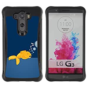 Suave TPU GEL Carcasa Funda Silicona Blando Estuche Caso de protección (para) LG G3 / CECELL Phone case / / Funny Sleeping Goldfish /