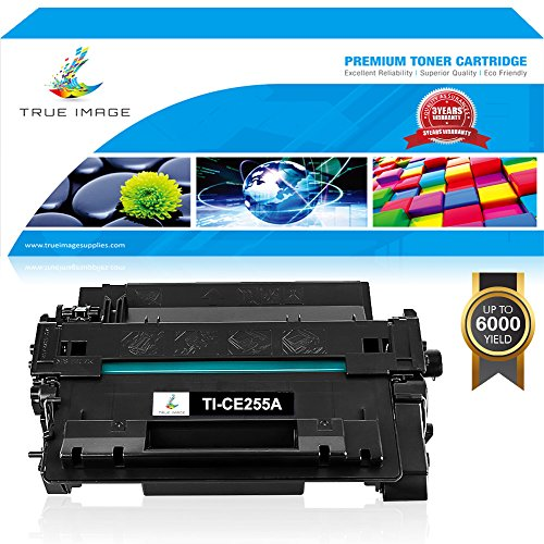 TRUE IMAGE 1 Pack Compatible for HP 55A CE255A Toner Cartridge for HP Laserjet P3015 Ink M525 P3015DN Laserjet Enterprise Pro 500 MFP M521DN M521DW P3015X P3015N P3016 P3010 M525F M525C Printer -Black