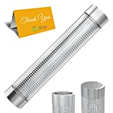 The Joy Shop Pellet Smoker Tube for Grill (12 inch) – Stainless Steel - 5 Hours of Billowing Smoke – Suitable for Hot or Cold Smoking - Easy, Safe, and Tasty Smoking – Comes with 2 Skewers