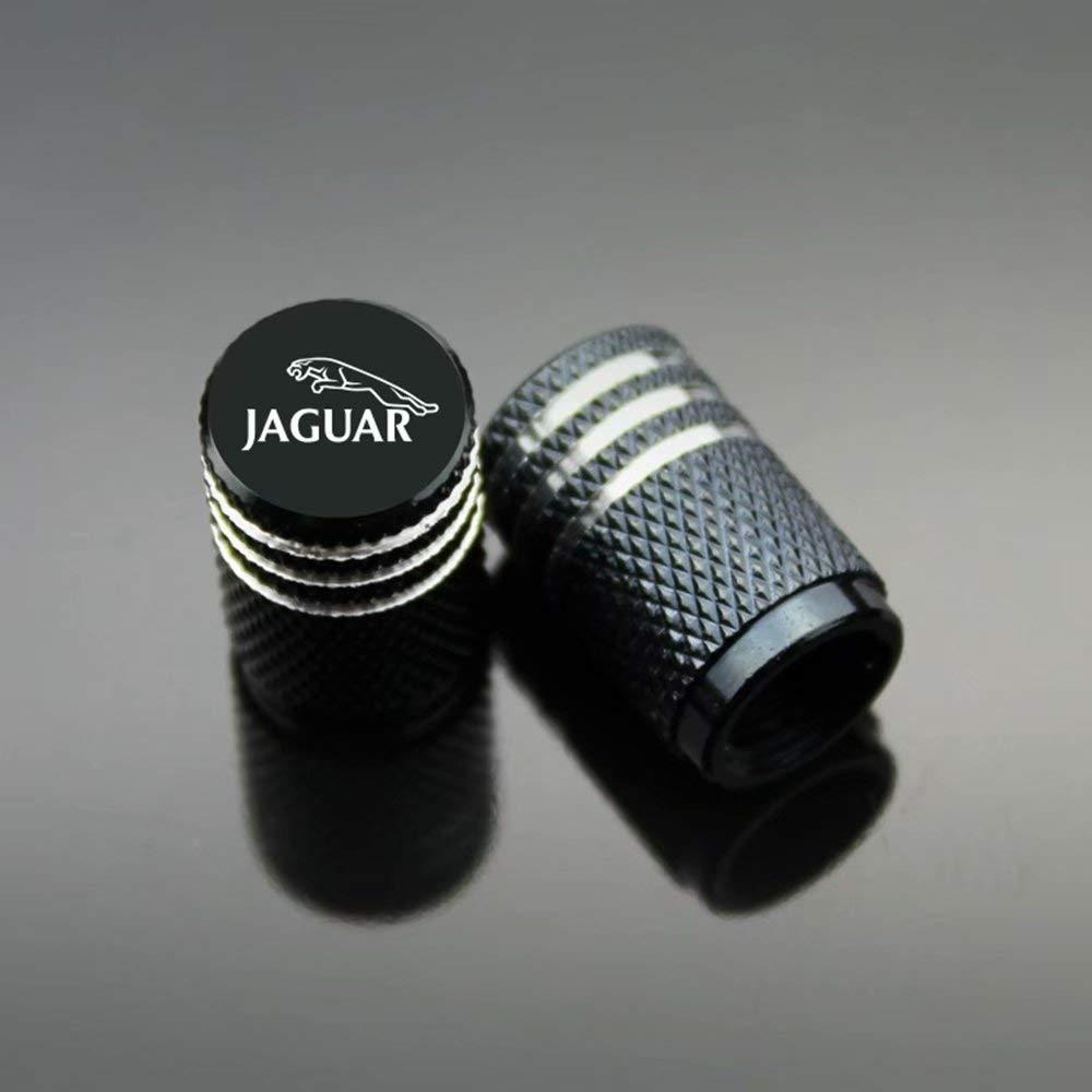 schwarz Ventilkappen Carbon-Titan schwarz Schutz Ihres Ventilvorbaus ZYFAOZHOU Jaguar Auto-Reifen-Ventilkappen staubdicht 4 St/ück//Set verhindern Korrosion Luftauslaufsicher