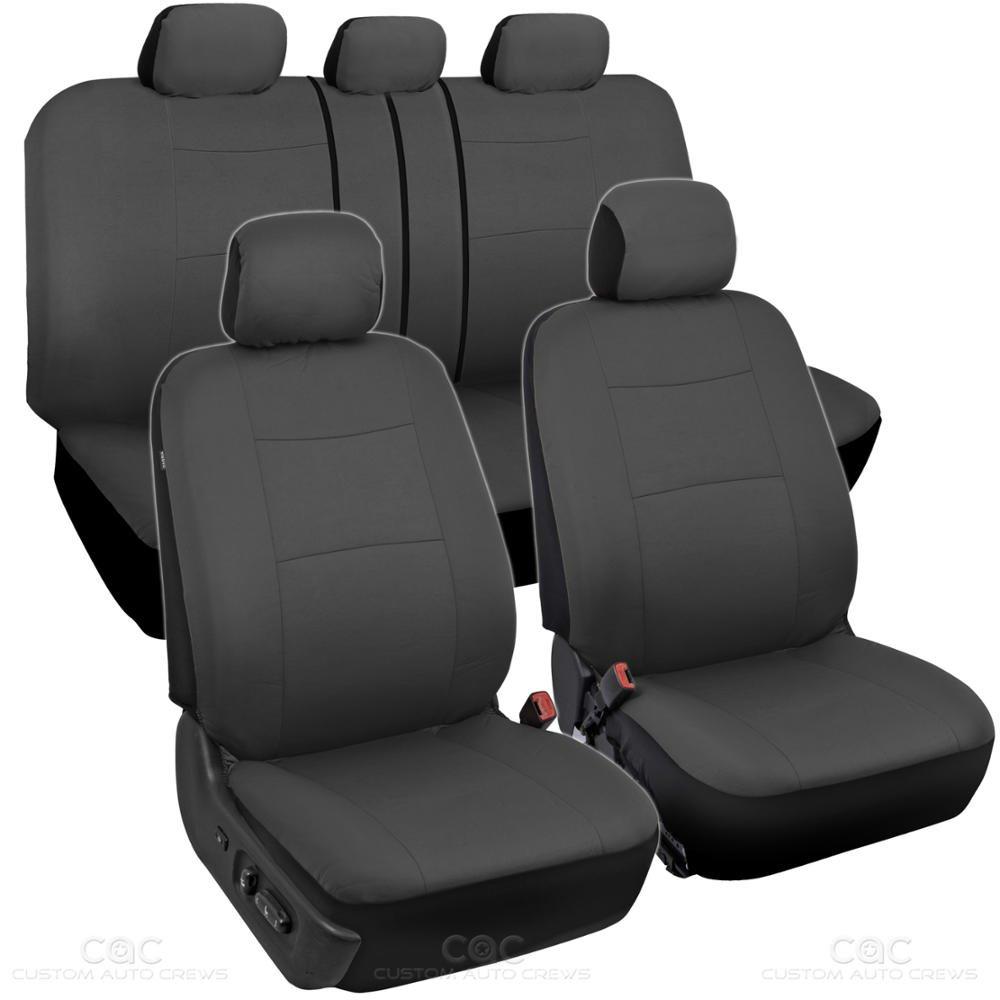 Amazon BDK Charcoal Black Car Seat Covers Full 9pc Set