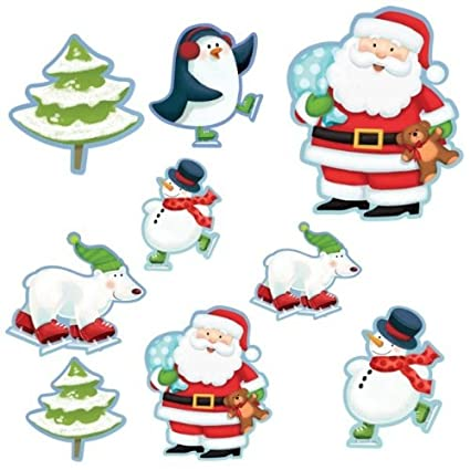 Christmas Cutouts.Amazon Com Partyman Pack Of 12 Christmas Cutouts Toys Games