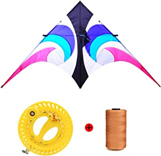 YPKHHH Creative Sky Eye Umbrella Kite Nouveau Grand Triangle Kite Breeze Facile à Voler avec Line Wheel Ligne de 500m