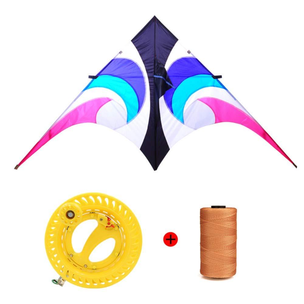 YPKHHH Creative Sky Eye Umbrella Kite Nouveau Grand Triangle Kite Breeze Facile à Voler avec Line Wheel Ligne de 500m