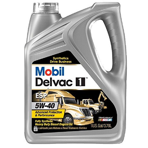 Mobil (112825-4PK) Delvac 1 ESP 5W-40 Motor Oil - 1 Gallon, (Pack of 4) by Mobil 1