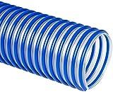 Flexaust 3547070025 Flex-Tube PU 60 HF Polyurethane Flexible Hose, 21 psi, 25' Length, 7'' ID