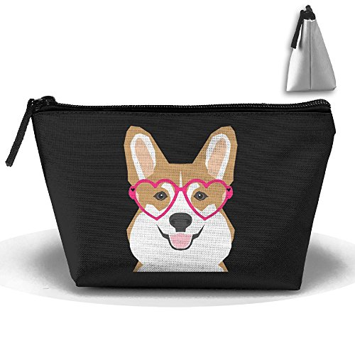 (HTSS Welsh Corgi Portable Makeup Receive Bag Storage Large Capacity Bags Hand Bag Travel Wash Bag For Travel With Hanging Zipper)