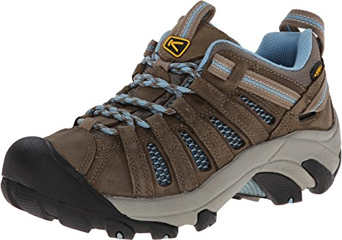 KEEN Women's Voyageur Hiking Shoe, Brindle/Alaskan Blue, 5.5 M US by KEEN