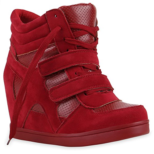 Stiefelparadies - Plataforma Mujer Rojo
