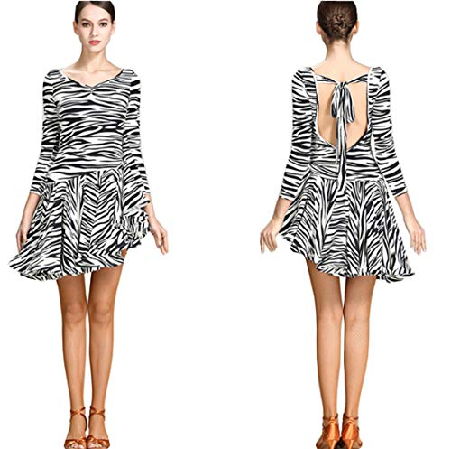 Modern Skirts Dress Zebra Waltz Skirts Dress Latin Ballroom Dress Leopard 7qBfc