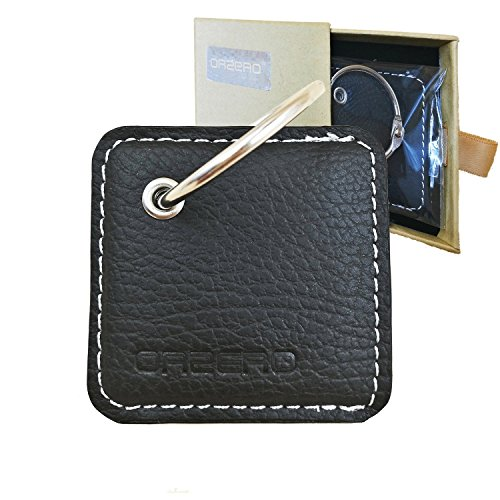 Orzero Leather Case for Tile Style (Not for Tile Sport) Finder with Keychain/Key Ring Away from Scratch Wet Dirty (Tile Style Not Included)-Black