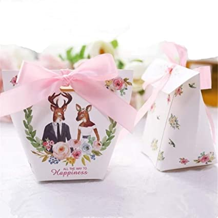 Amazon Com Meizoken 50pcs Creative Wedding Favors Rabbit