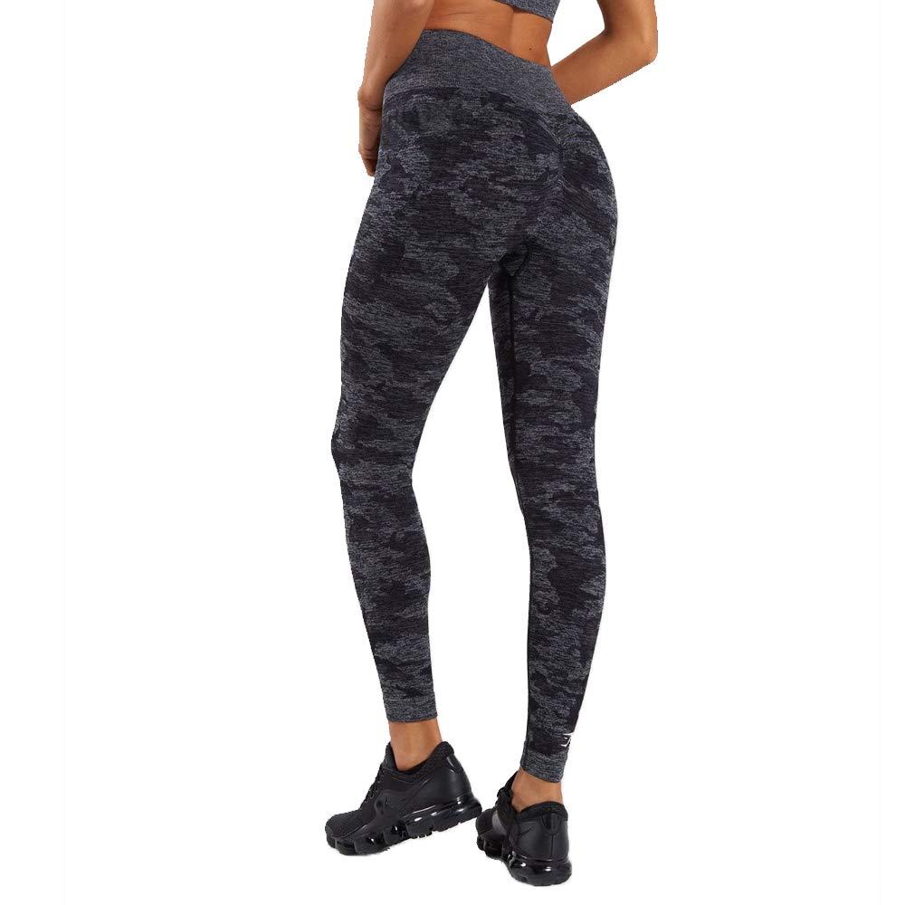 FLATTERI Black Camouflage Seamless Yoga Pant Squat Proof Activewear Leggings