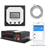 Yiruy 20A 12V App Monitoring Solar Panels Charge Controller Auto Solar Battery Charging Regulators