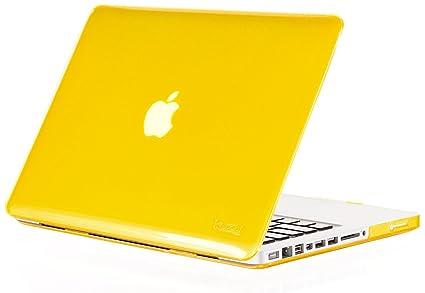newest b57f1 fdfaa Kuzy - Yellow Plastic Case for Older MacBook Pro 13.3