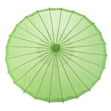 No: 1 bambú chinos japonesa sustancias sol paraguas blanco, verde