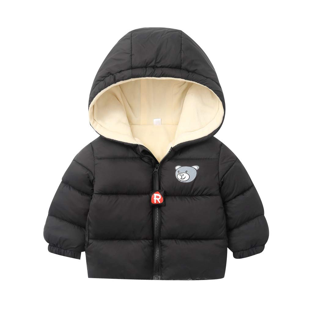 PLENTOP Toddler Clothes for Boys Long Sleeve,Chlidren Kids Boys Girl Winter Coats Jacket Zip Thick Bear Snow Hoodie Outwear by PLENTOP