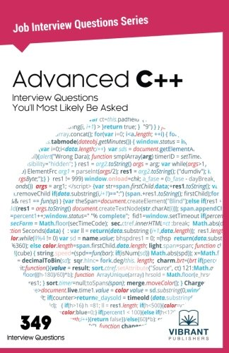 Advanced C++ Interview Questions You