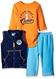 BON BEBE Baby Boys' 3 Piece Microfleece Vest and