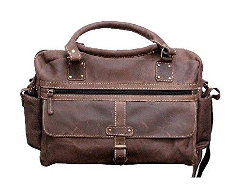 Genuine Laptop Satchel Buffalo Handmade Bag 15 Inches bag Carry 6 Tuzech messenger Leather Fits Styled Handsome Dark Upto Unisex d6vdfqw