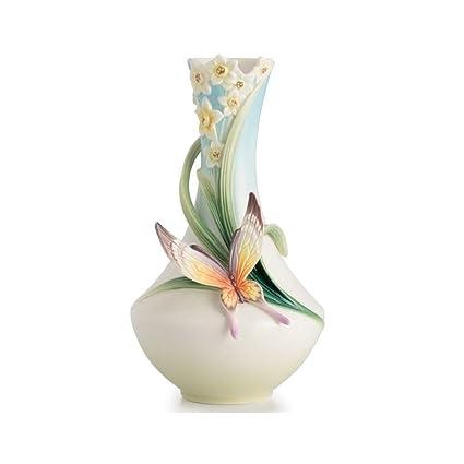Amazon Franz Porcelain Papillon Butterfly Vase Fz01216 Home