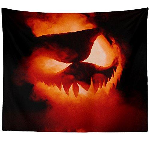 Westlake Art Wall Hanging Tapestry - Halloween Pumpkin - Photography Home Decor Living Room - (Happy Halloween Slashers)
