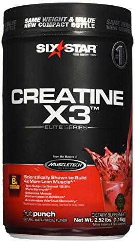 Six Star Pro Nutrition Elite Series Creatine X3 2.52lb Fruit