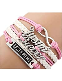 Handmade Braided Multi Layers Vintage Woven Rope Woven Leather Alloy Infinity Wrap Bangle Bracelets