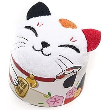 Día de la madre regalo: Cute Animal toalla - japonés buena suerte gato manopla - 100% algodón, tejido de rizo: Amazon.es: Hogar