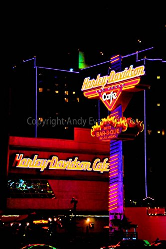 Harley Davidson Cafe photograph a photographic print of Harley-Davidson Motorcycle Cafe Las Vegas Nevada USA portrait photo color picture fine art print or poster photography gift present (6