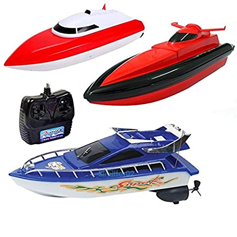 Shallen Kids Children RC Radio Remote Control High Speed Boat Ship Electric Toy Gift S2 (Remote Control Viking)
