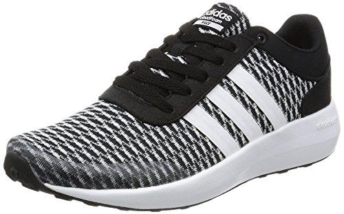 adidas Women's Cloudfoam Race W Sneaker Low Neck, Multi-Coloured Black (Negbas/Ftwbla/Negbas)