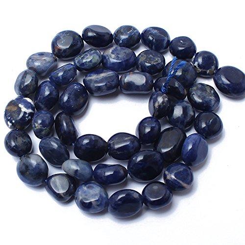 Love Beads Old Blue Sodalite Stone Beads Irregular Loose Gemstone Beads 8-11mm for Jewelry Making
