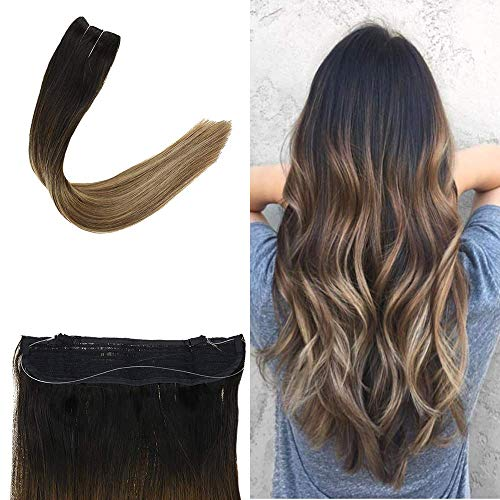 Full Shine Balayage Wire In Hair Extensions Human Hair 12