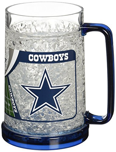 Dallas Cowboys 16oz Crystal Freezer Mug Dallas Cowboys Nfl Crystal