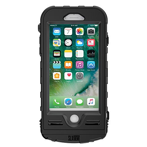 Snow Lizard Products Solar Charge, Waterproof Battery Case for iPhone 7/8 - Black by Snow Lizard Products (Image #1)