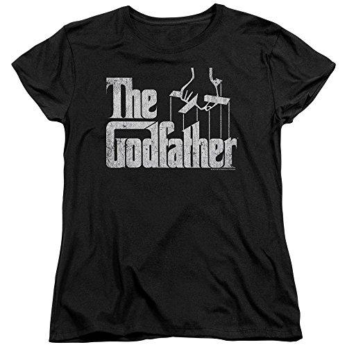 Trevco Godfather Logo Women's T Shirt, Large Black